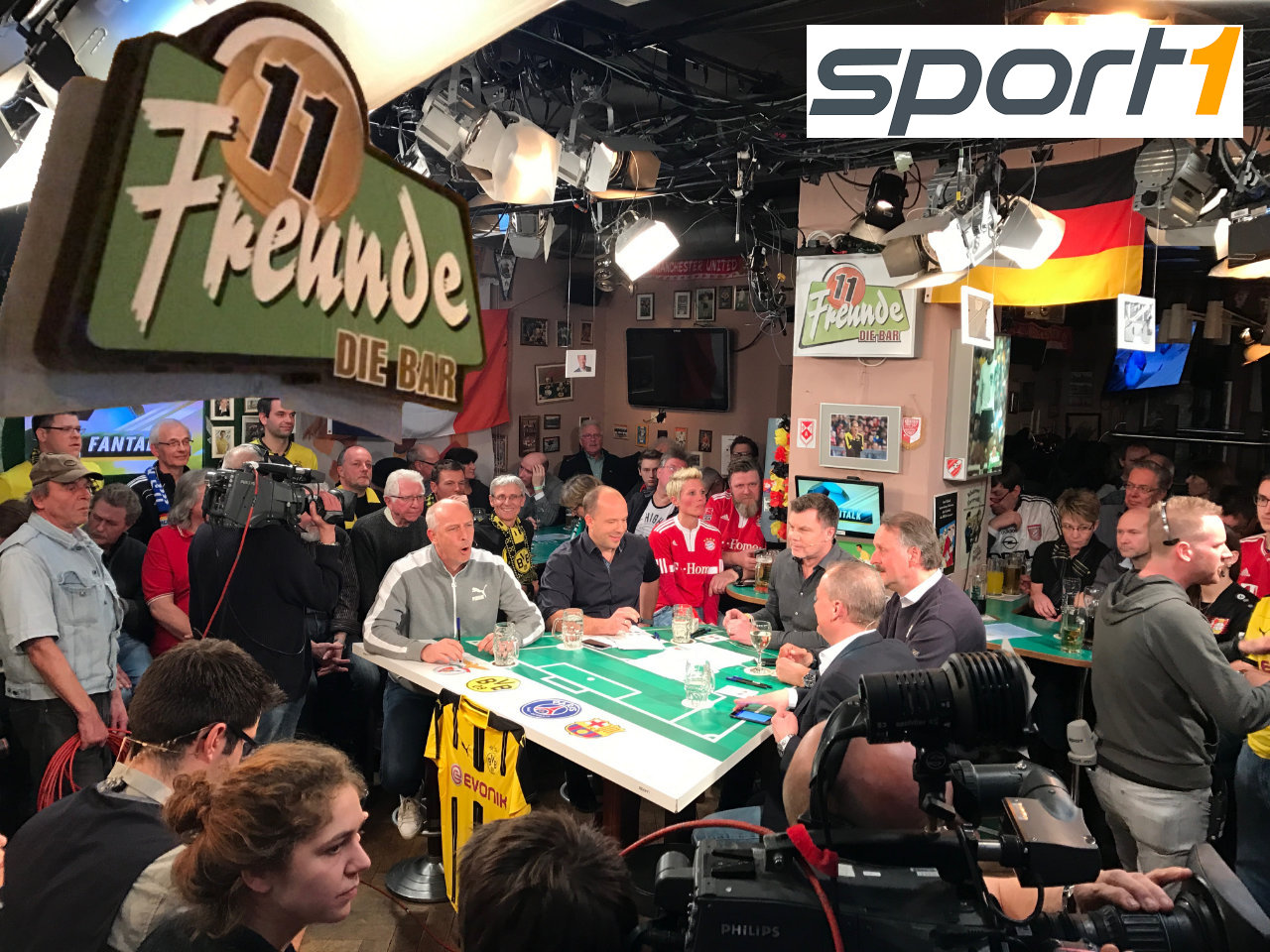 Der Sport1 Fantalk in der Essener 11freunde-Bar